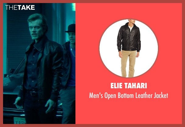 Elie Tahari black jacket from John Wick seen with Alfie Allen (Iosef Tarasov)