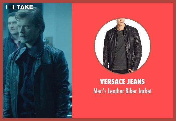 Versace Jeans black jacket from John Wick seen with Alfie Allen (Iosef Tarasov)