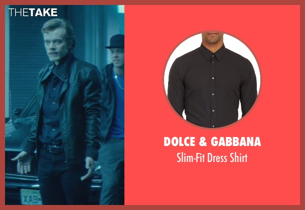 Dolce & Gabbana black shirt from John Wick seen with Alfie Allen (Iosef Tarasov)