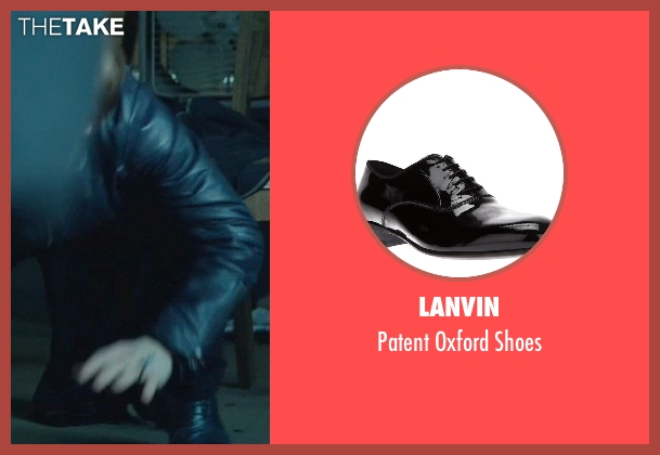 Lanvin black shoes from John Wick seen with Alfie Allen (Iosef Tarasov)