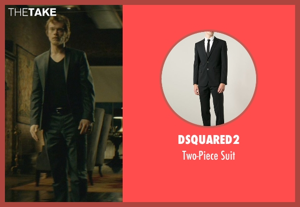 Dsquared2 black suit from John Wick seen with Alfie Allen (Iosef Tarasov)