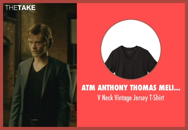 ATM Anthony Thomas Melillo black t-shirt from John Wick seen with Alfie Allen (Iosef Tarasov)