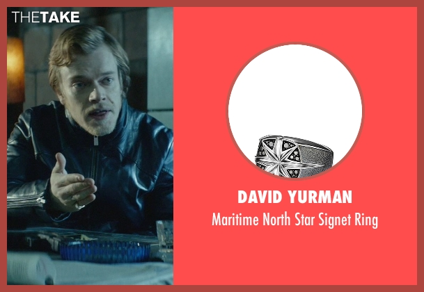 David Yurman silver ring from John Wick seen with Alfie Allen (Iosef Tarasov)