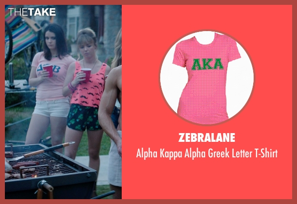 Zebralane pink t-shirt from Neighbors seen with Ali Cobrin (Whitney)