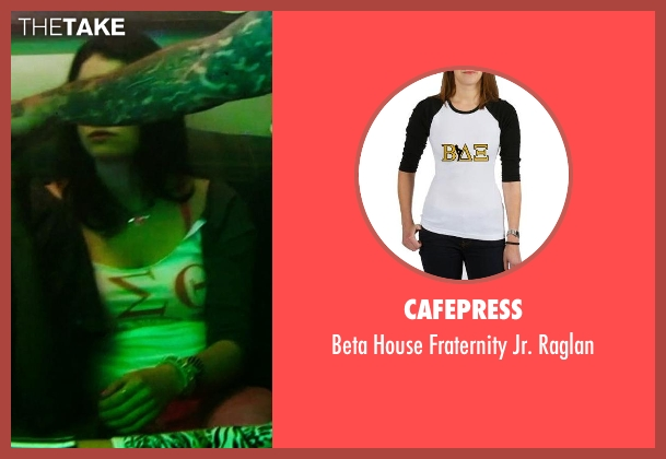 Cafepress white raglan from Neighbors seen with Ali Cobrin (Whitney)