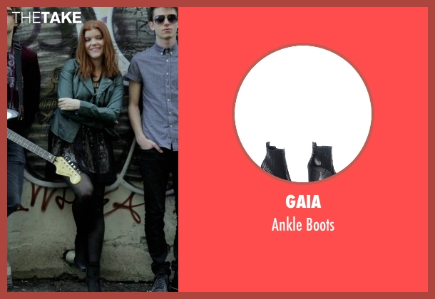 Gaia black boots from If I Stay seen with Ali Milner (Liz)