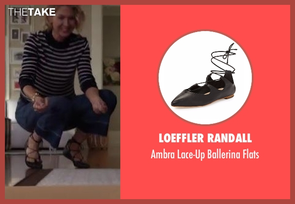 Loeffler Randall black flats from Imaginary Mary seen with Alice (Jenna Elfman)