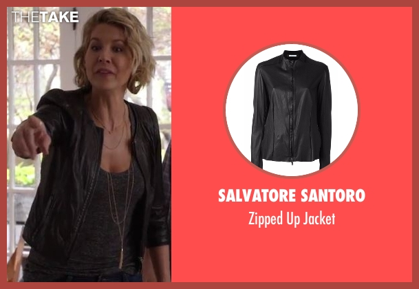 Salvatore Santoro black jacket from Imaginary Mary seen with Alice (Jenna Elfman)