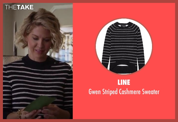 Line black sweater from Imaginary Mary seen with Alice (Jenna Elfman)