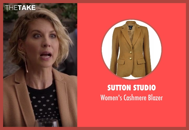 Sutton Studio brown blazer from Imaginary Mary seen with Alice (Jenna Elfman)