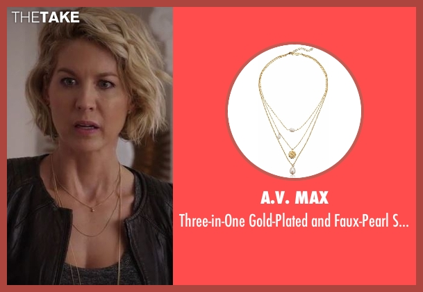 A.V. Max  gold necklace from Imaginary Mary seen with Alice (Jenna Elfman)