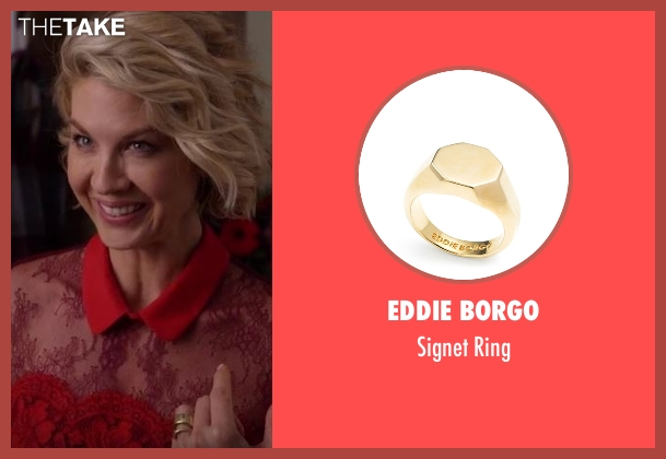 Eddie Borgo gold ring from Imaginary Mary seen with Alice (Jenna Elfman)