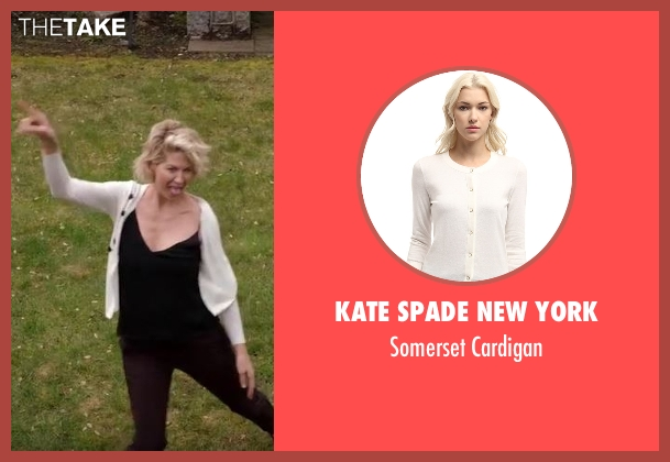 Kate Spade New York white cardigan from Imaginary Mary seen with Alice (Jenna Elfman)