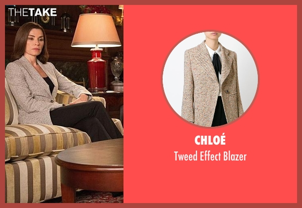 Chloé beige blazer from The Good Wife seen with Alicia Florrick (Julianna Margulies)