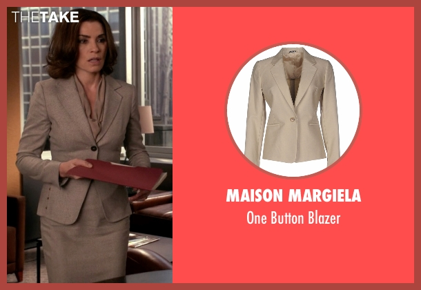 Maison Margiela  beige blazer from The Good Wife seen with Alicia Florrick (Julianna Margulies)