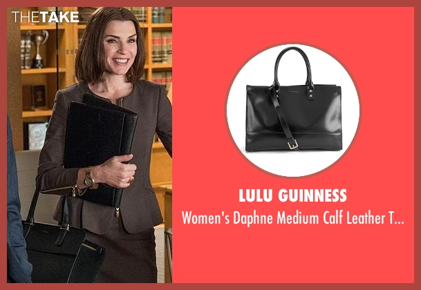 Lulu Guinness black bag from The Good Wife seen with Alicia Florrick (Julianna Margulies)