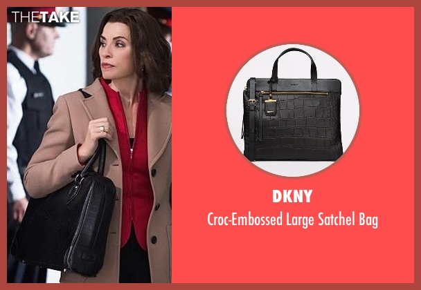 DKNY black bag from The Good Wife seen with Alicia Florrick (Julianna Margulies)