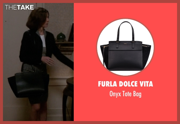 Furla Dolce Vita black bag from The Good Wife seen with Alicia Florrick (Julianna Margulies)