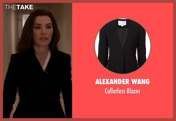 Alexander Wang black blazer from The Good Wife seen with Alicia Florrick (Julianna Margulies)