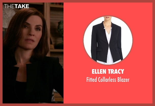 Ellen Tracy black blazer from The Good Wife seen with Alicia Florrick (Julianna Margulies)