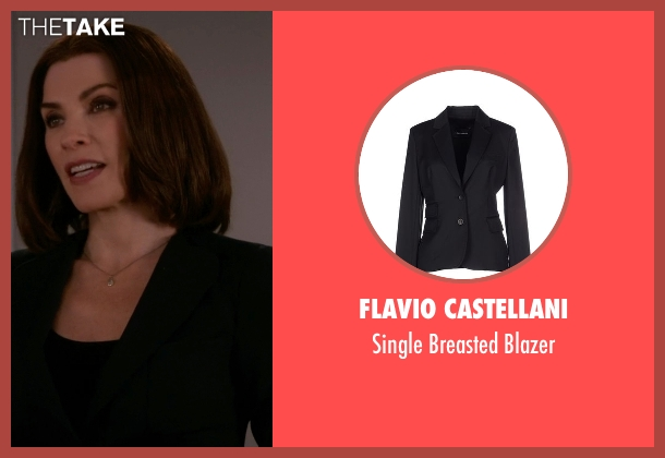 Flavio Castellani black blazer from The Good Wife seen with Alicia Florrick (Julianna Margulies)