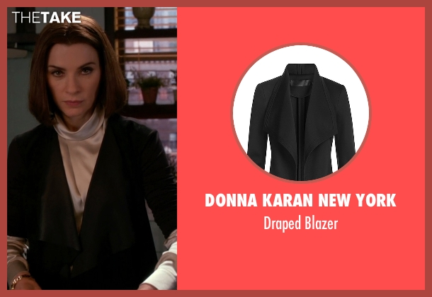 Donna Karan New York black blazer from The Good Wife seen with Alicia Florrick (Julianna Margulies)
