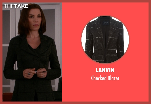 Lanvin black blazer from The Good Wife seen with Alicia Florrick (Julianna Margulies)