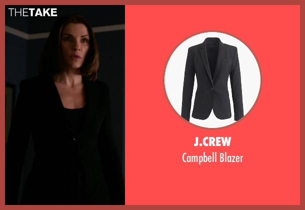 J.Crew black blazer from The Good Wife seen with Alicia Florrick (Julianna Margulies)