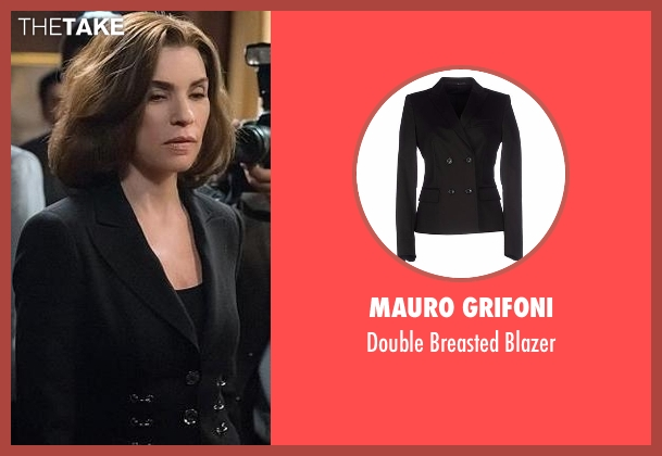 Mauro Grifoni black blazer from The Good Wife seen with Alicia Florrick (Julianna Margulies)