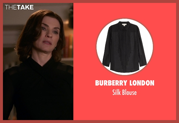 Burberry London black blouse from The Good Wife seen with Alicia Florrick (Julianna Margulies)