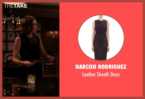 Narciso Rodriguez black dress from The Good Wife seen with Alicia Florrick (Julianna Margulies)