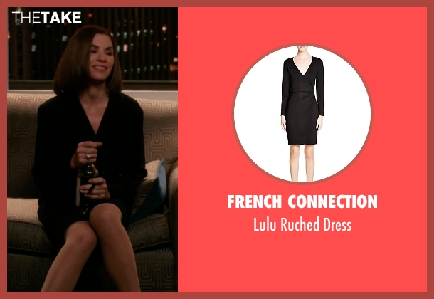 French Connection black dress from The Good Wife seen with Alicia Florrick (Julianna Margulies)