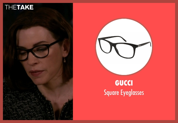 Elizabeth and James black glasses from The Good Wife seen with Alicia Florrick (Julianna Margulies)
