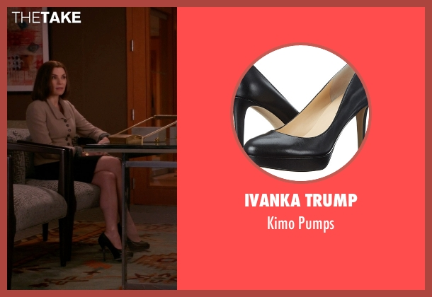 Ivanka Trump black pumps from The Good Wife seen with Alicia Florrick (Julianna Margulies)