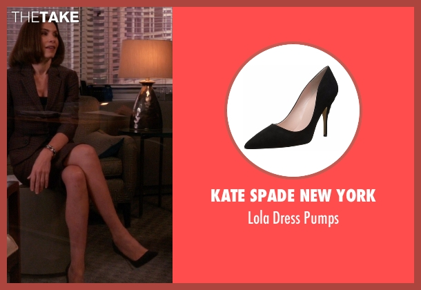 Kate Spade New York black pumps from The Good Wife seen with Alicia Florrick (Julianna Margulies)