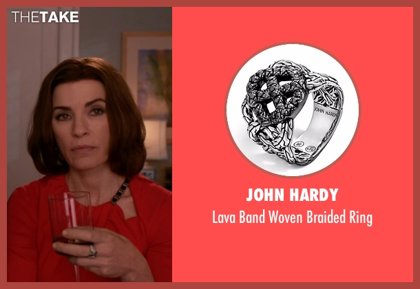 John Hardy black ring from The Good Wife seen with Alicia Florrick (Julianna Margulies)