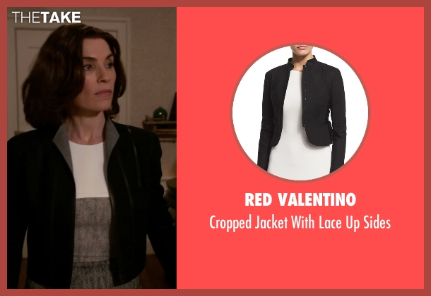 Red Valentino black sides from The Good Wife seen with Alicia Florrick (Julianna Margulies)