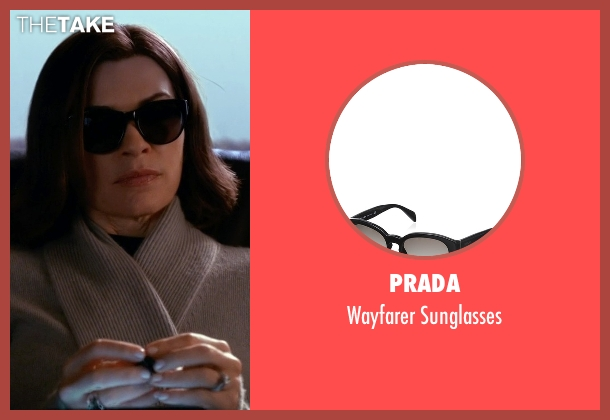 Prada black sunglasses from The Good Wife seen with Alicia Florrick (Julianna Margulies)
