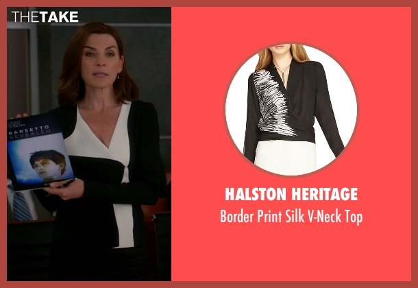 Halston Heritage black top from The Good Wife seen with Alicia Florrick (Julianna Margulies)