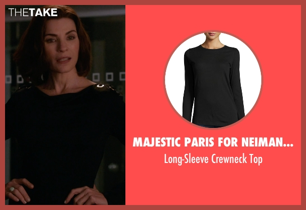 Majestic Paris for Neiman Marcus black top from The Good Wife seen with Alicia Florrick (Julianna Margulies)