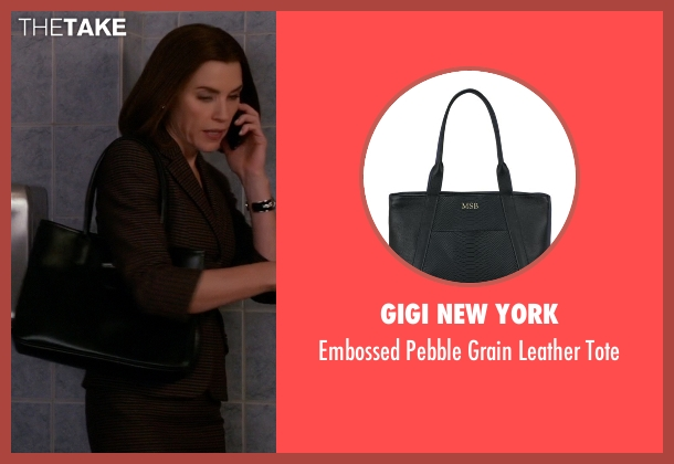 GiGi New York black tote from The Good Wife seen with Alicia Florrick (Julianna Margulies)