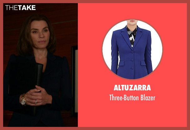 Altuzarra blue blazer from The Good Wife seen with Alicia Florrick (Julianna Margulies)