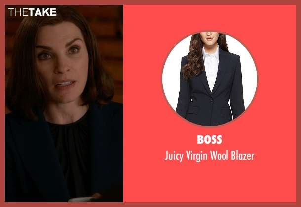 Boss blue blazer from The Good Wife seen with Alicia Florrick (Julianna Margulies)