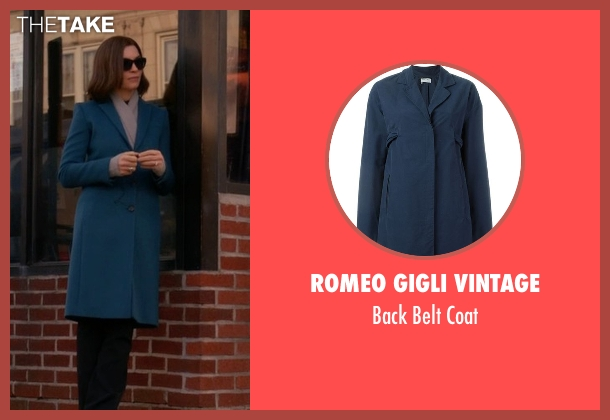 Romeo Gigli Vintage blue coat from The Good Wife seen with Alicia Florrick (Julianna Margulies)
