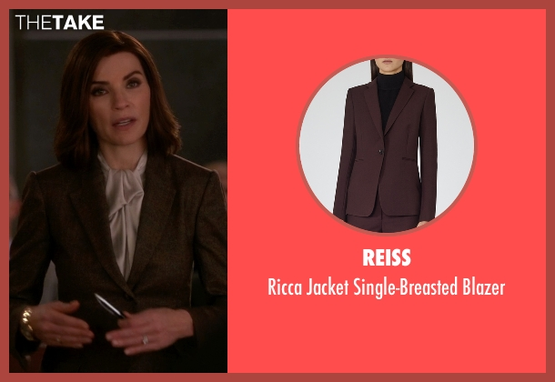 Reiss brown blazer from The Good Wife seen with Alicia Florrick (Julianna Margulies)