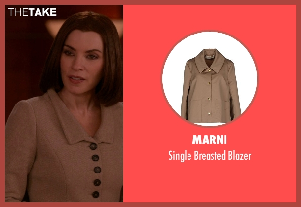 Marni brown blazer from The Good Wife seen with Alicia Florrick (Julianna Margulies)