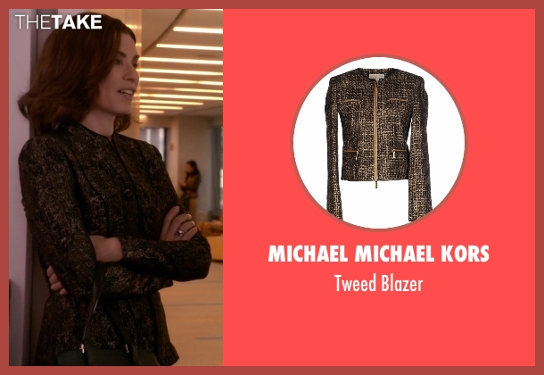 Michael Michael Kors brown blazer from The Good Wife seen with Alicia Florrick (Julianna Margulies)