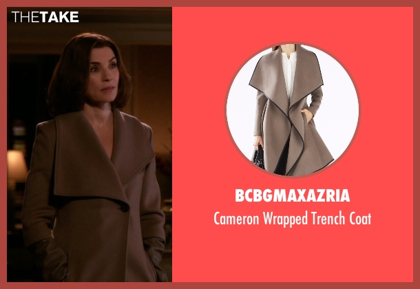 BCBGMAXAZRIA brown coat from The Good Wife seen with Alicia Florrick (Julianna Margulies)