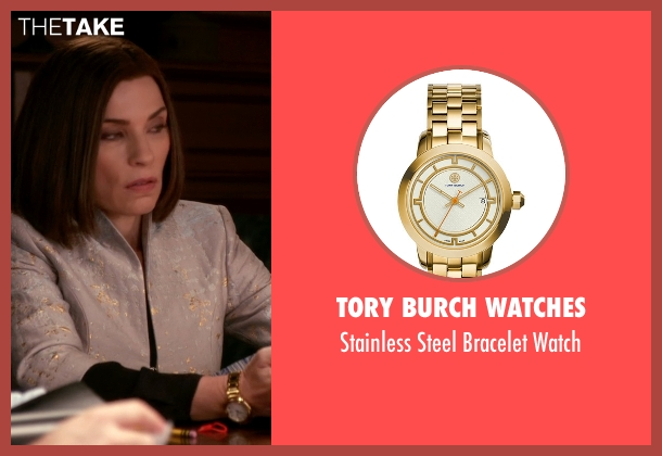 Tory Burch Watches gold watch from The Good Wife seen with Alicia Florrick (Julianna Margulies)
