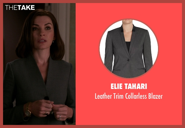 Elie Tahari gray blazer from The Good Wife seen with Alicia Florrick (Julianna Margulies)